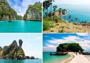 ทัวร์ภูเก็ต เกาะพีพี ทะเลแหวก ชมพระอาทิตย์ตกดินที่แหลมพรหมเทพ