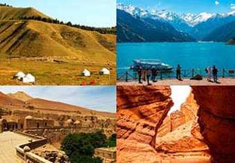 ทัวร์จีน อูรูมูฉี  ทูรูฟาน ถ้ำพระพันองค์ เทียนซานแกรนด์แคนย่อน ล่องเรือทะเลสาบเทียนซาน