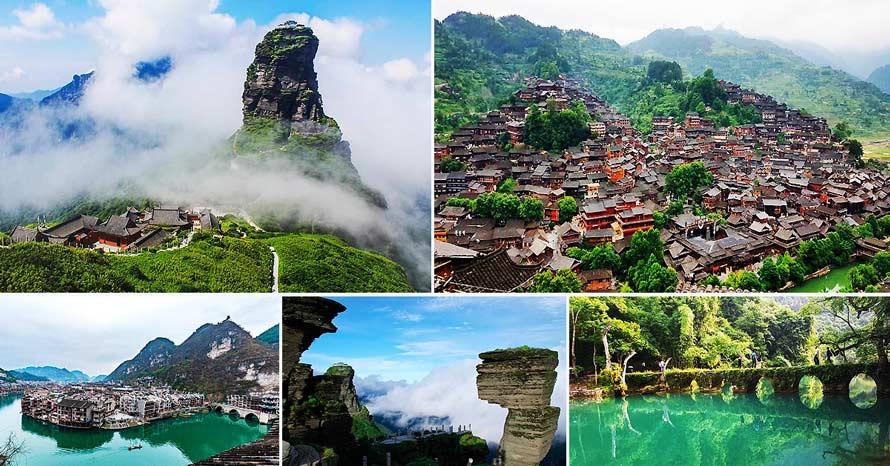 Unseen Guizhou ทัวร์กุ้ยโจว ฟ่านจิ้นซาน หมู่บ้านเผ่าแมวซีเจียง 6 วัน