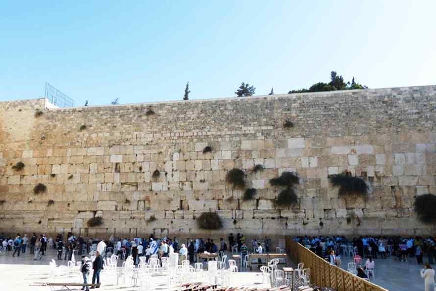 กำแพงร้องไห้ (Wailing Wall) ประเทศอิสราเอล