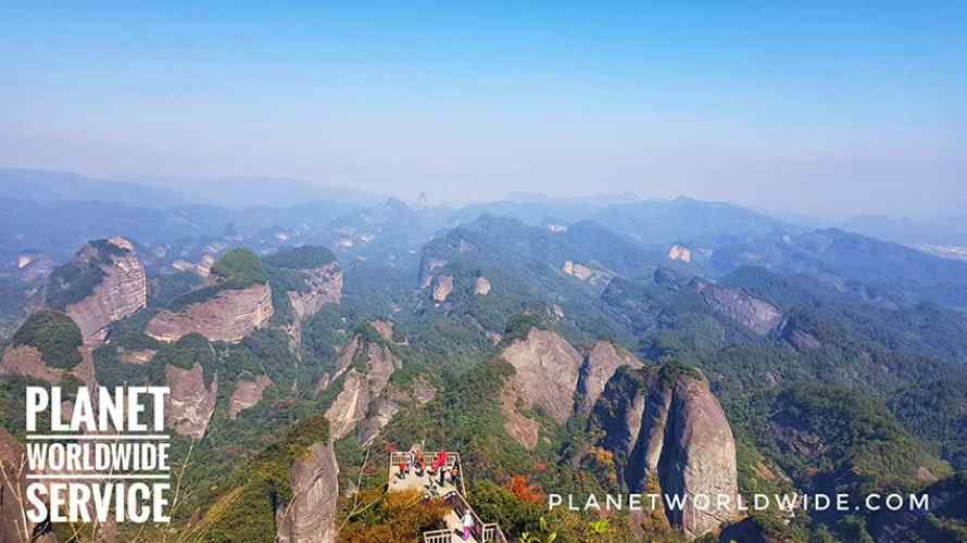 ภูเขาแปดเหลี่ยม อุทยานหลานซาน สถานที่ท่องเที่ยวแปลกใหม่ มรดกโลก UNESCO