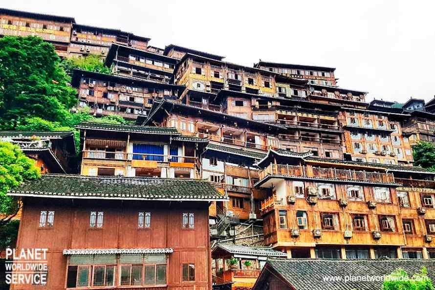 หมู่บ้านโบราณเผ่าแม้วซีเจียง Kaili Xijiang Miao Village
