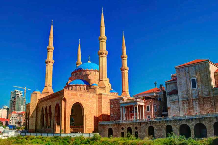 มัสยิดบลูเมืองเบรุต Mohammad Al-Amin Mosque