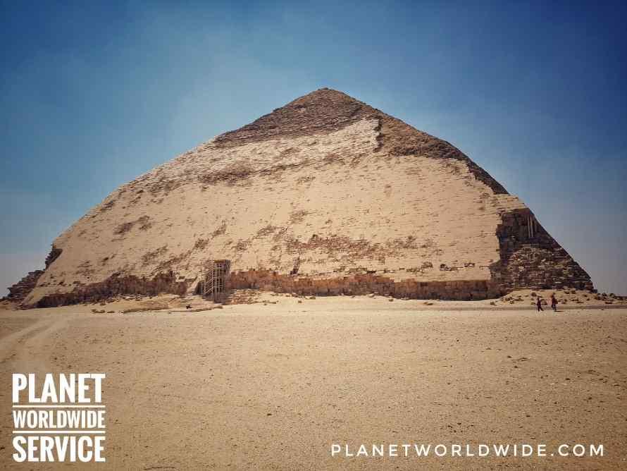 ปิรามิดโค้งหรือปิรามิดงอ Bent Pyramid