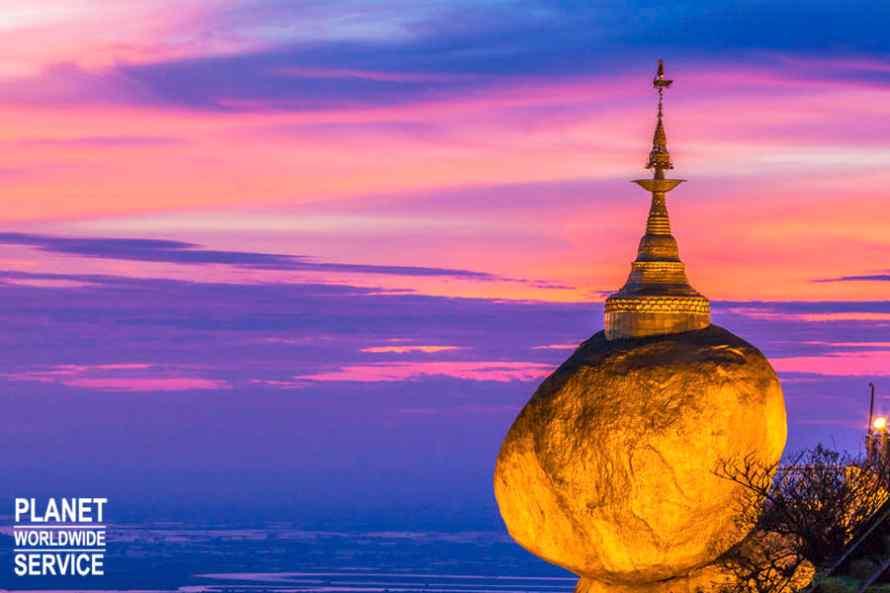 ทัวร์พม่า,พระธาตุอินทร์แขวน