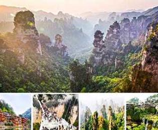 ทัวร์จางเจียเจี้ย เฟิงหวง เมืองโบราณฟู๋หรงเซิ้น โชว์จิ้งจอกขาว สะพานแก้ว (ทัวร์จีนแนะนำ)