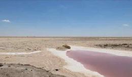 ทะเลเกลือในทะเลทราย Chott El Jerid Salt Lake